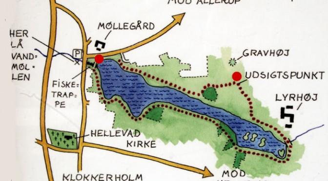 Informationstavler ved Møllesøen